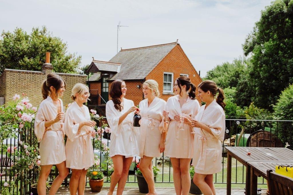 gaynes park bride and bridesmaids