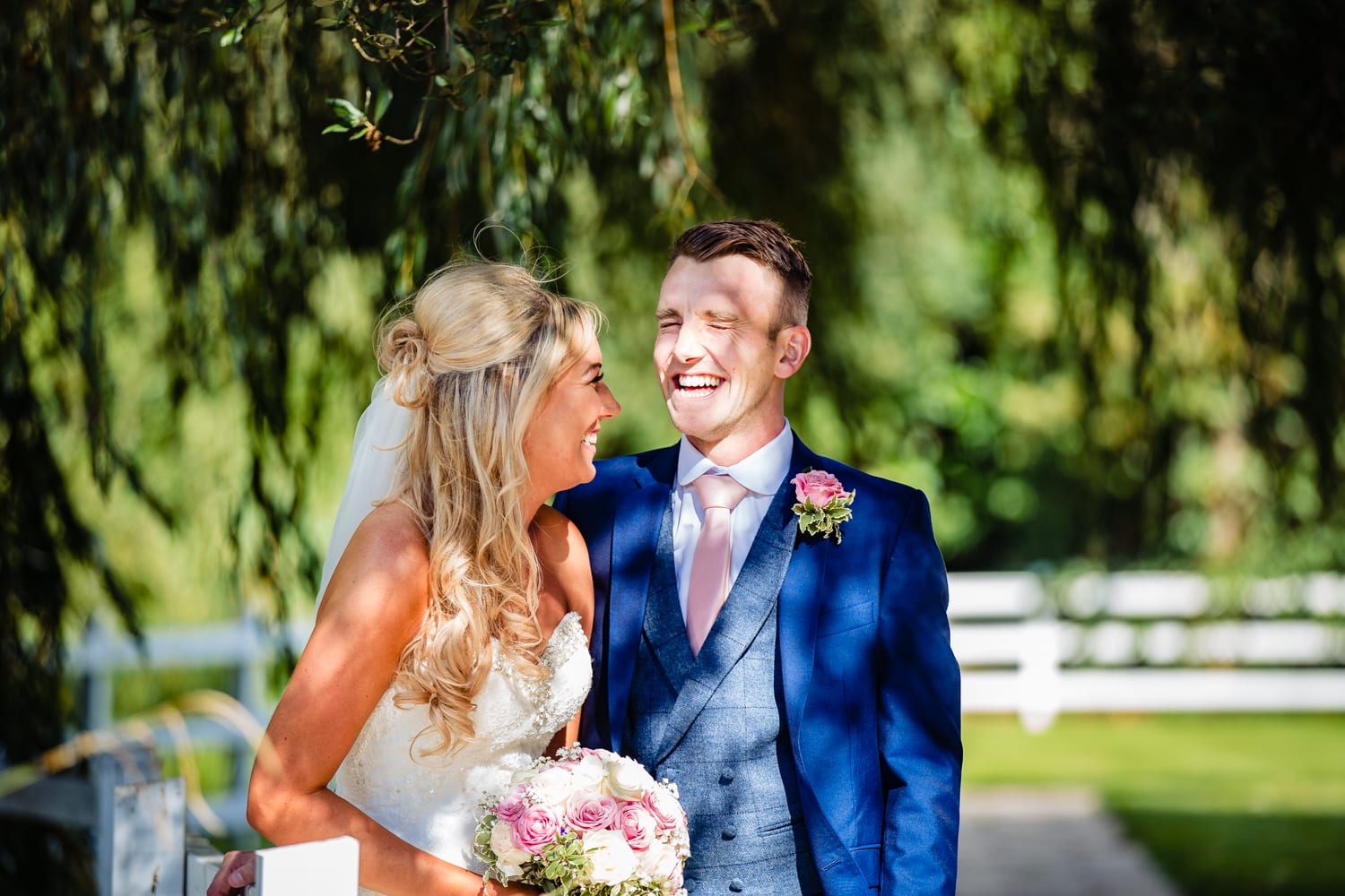 bride and groom portrait - wedding photography Essex
