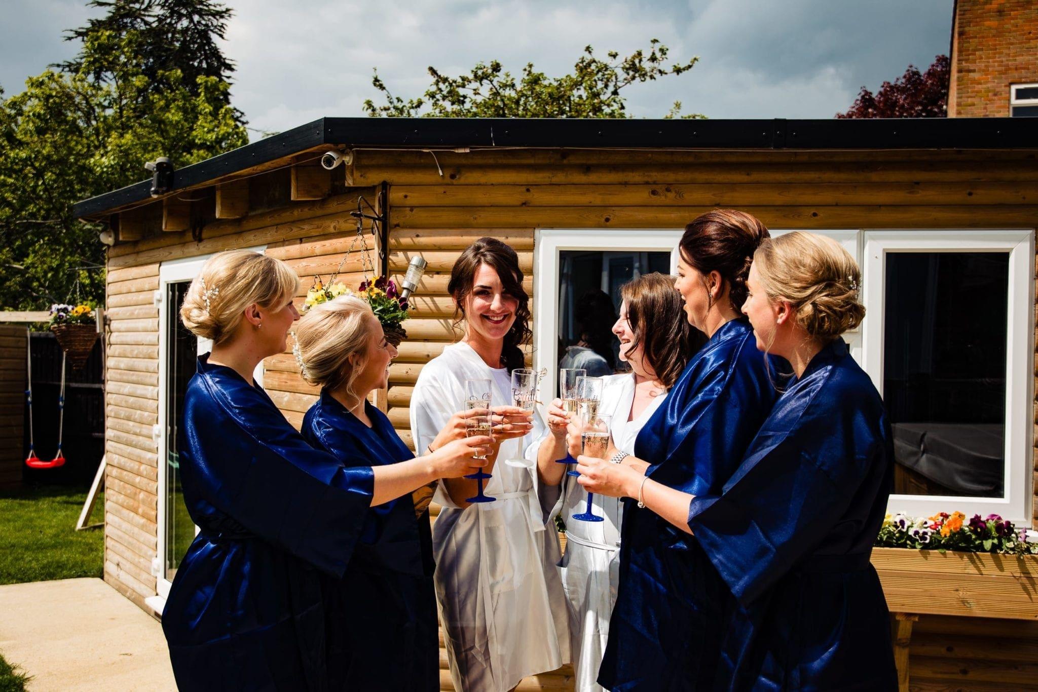 essex bride and bridesmaids