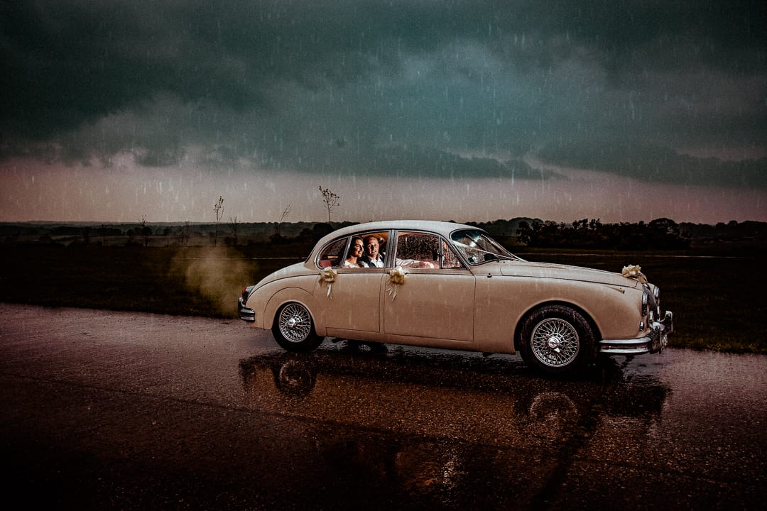 wedding photography essex- vintage car