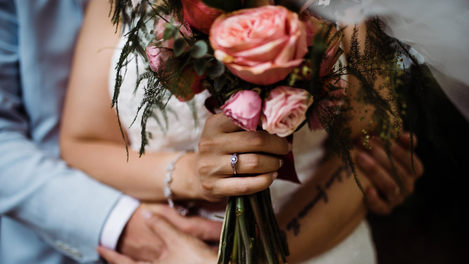 Wedding Bouquet Shot - Wedding Photographer Essex